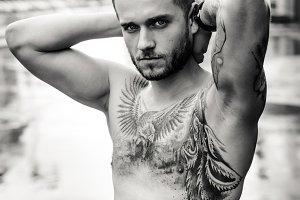 man. naked torso