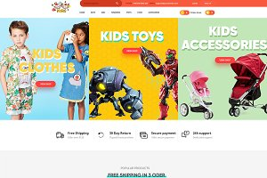 Kids - Love PSD for Kids, Baby shop