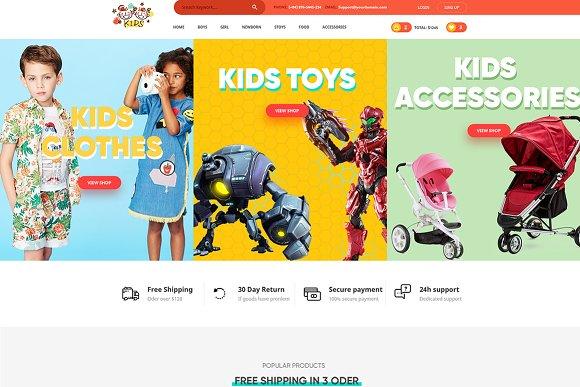Kids Love Psd For Kids Baby Shop Website Templates Creative