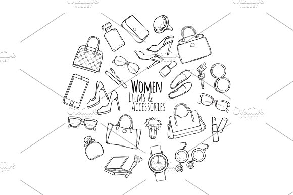 Women Items And Accessories Collection Of Things