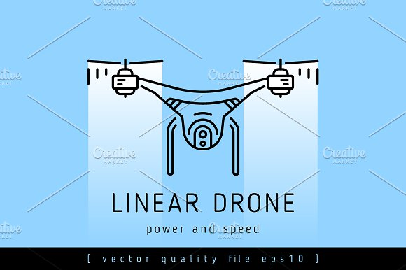 Drone Leaner Vector Sign
