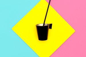 Coffee break. Art minimal design