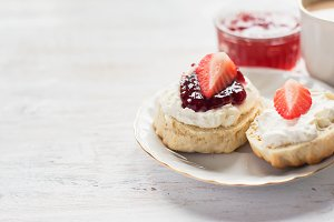 English cream teas with scones