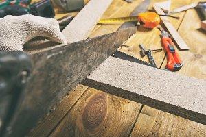 Carpenter is working