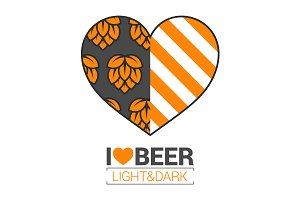 beer logo love concept