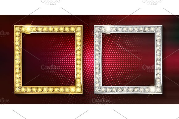 Gold And Silver Picture Frames