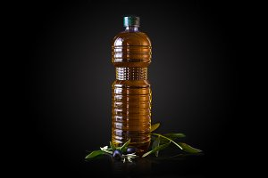 bottle of oil of olive