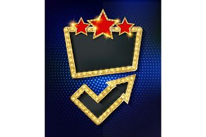 Set Retro marquee stylish frames