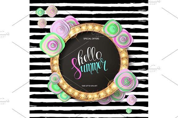 3 Summer Sale Background