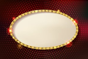 Marquee stylish oval frames