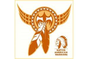 American indian vector logos