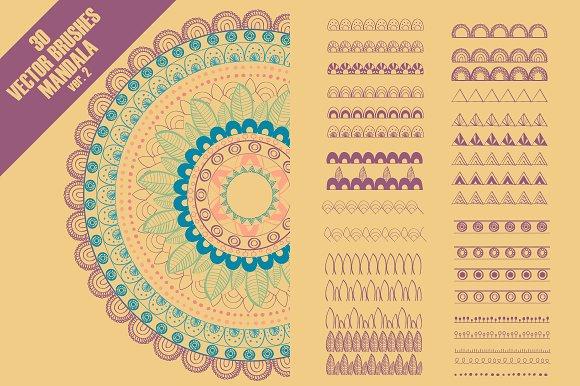 Vector Brushes For Mandala Ver 2