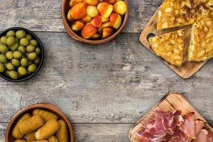 Traditional spanish tapas