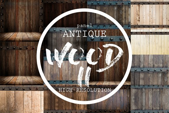 Wood And Metal Antique Backgrounds