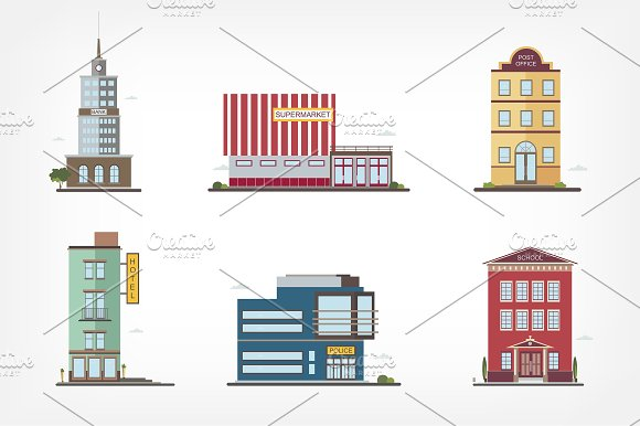 Modern Buildings In Different Styles