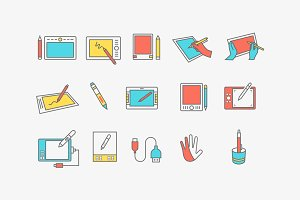 15 Graphics Tablet Icons