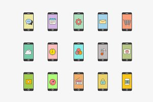 15 iPhone App Concept Icons