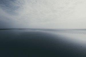 Dark Monochrome Beach Landscape