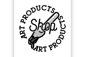 Color vintage art products shop