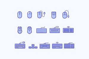 15 Keyboard and Mouse Icons