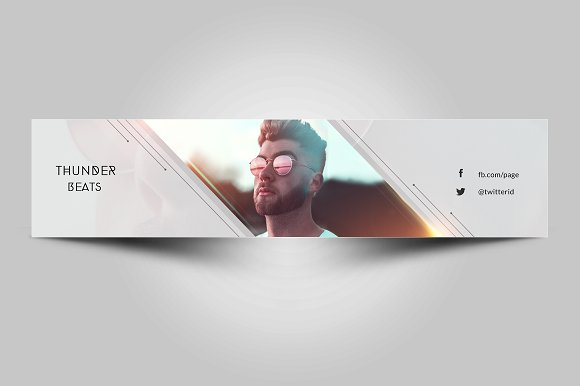Youtube channel art youtube templates creative market maxwellsz