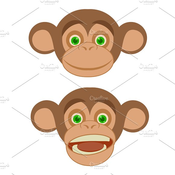 2 Monkey Face Expressions