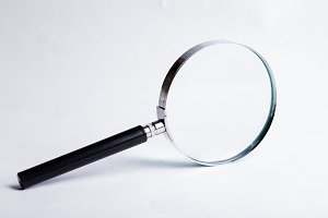 Magnifier on white