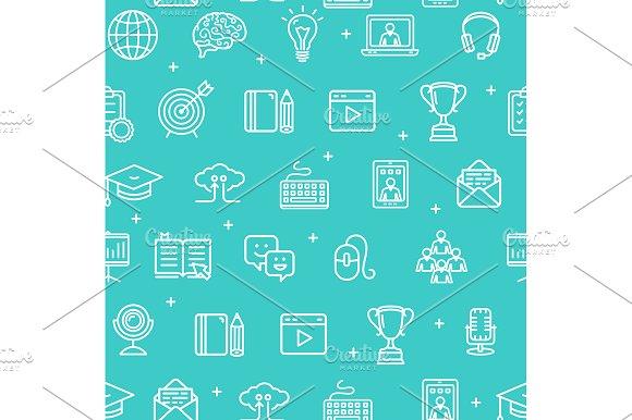 Education Online Pattern Background