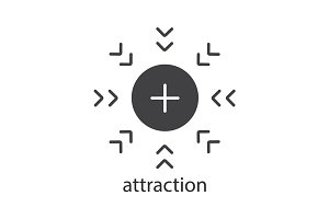 Attraction glyph icon