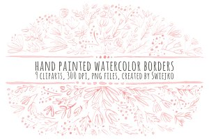 Watercolor Floral Borders II