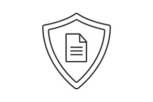 Personal document security linear icon