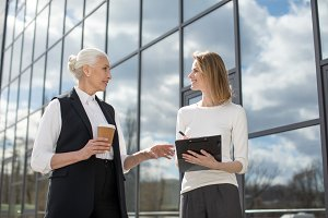 two businesswomen on meeting