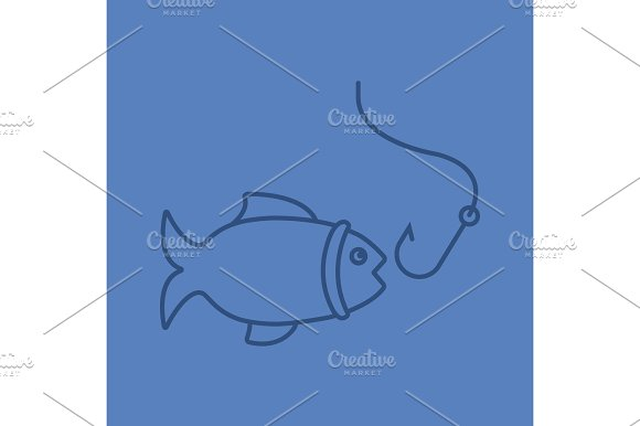 Fishing Color Linear Icon