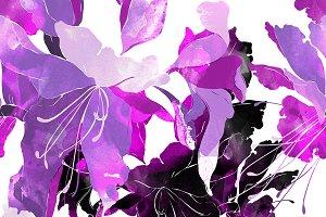 lilies seamless pattern | JPEG