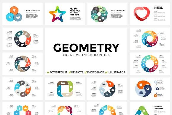 geometry 123 unique slides presentation templates creative market