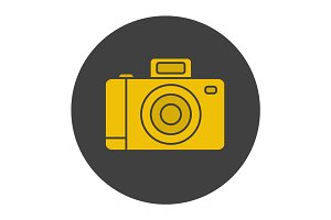 Photo camera glyph color icon