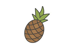 Pineapple color icon