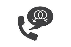 Phone sex glyph icon