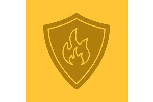 Firefighters badge glyph color icon