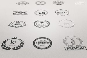 Laurels Vector Badges Logo Set