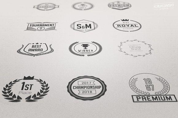 Laurels Vector Badges Logo Set