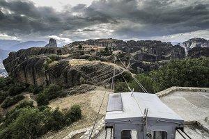 Lift in Meteora in Greece