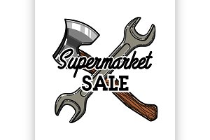 supermarket sale emblem