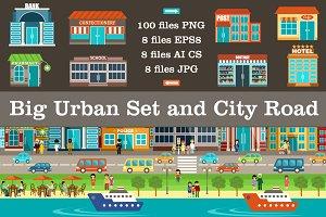 Big urban set and city road