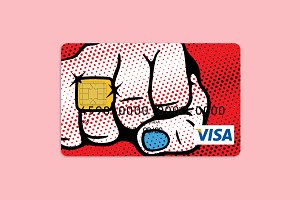 Pop–Art Ring Bank Card Design