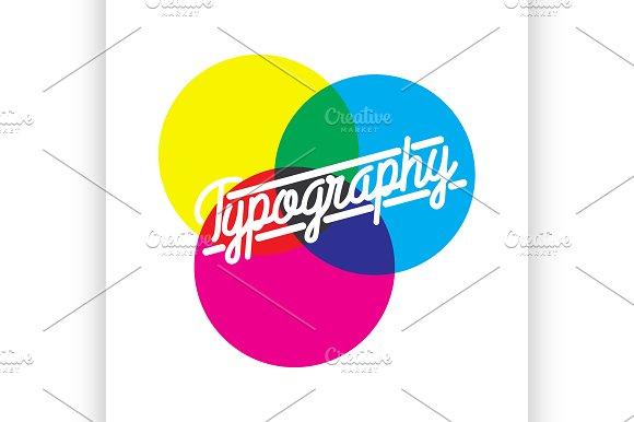 Color Vintage Typography Emblem