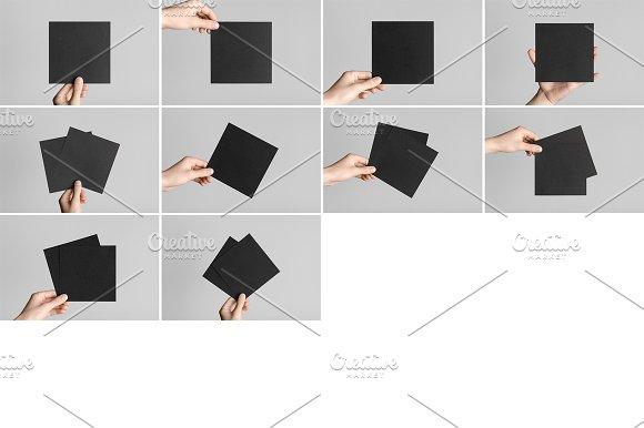 Square Flyer Mock-Up Photo Bundle