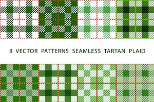 8 set seamless VECTOR TARTAN PLAID