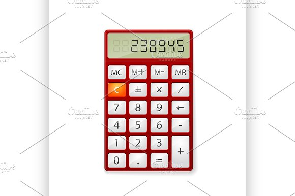 Red Office Calculator