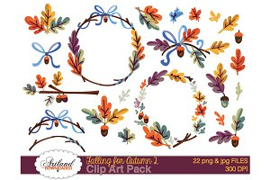 Falling for Autumn 2 Clipart Pack 2